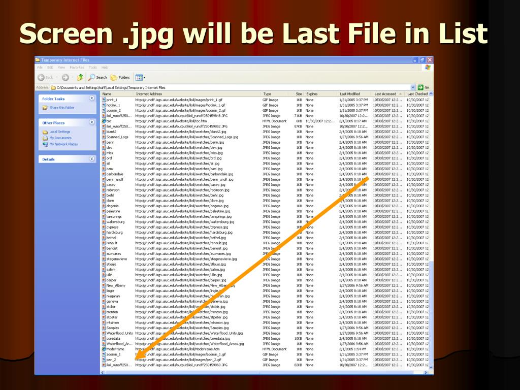 Screen .jpg will be Last File in List