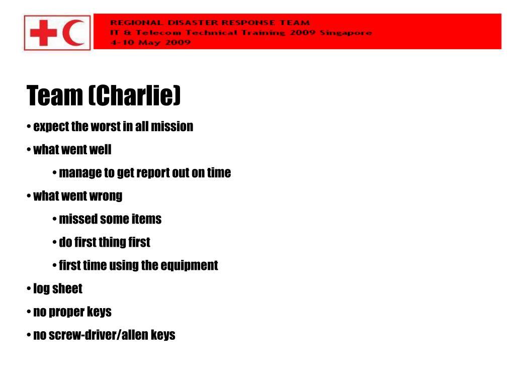 Team (Charlie)