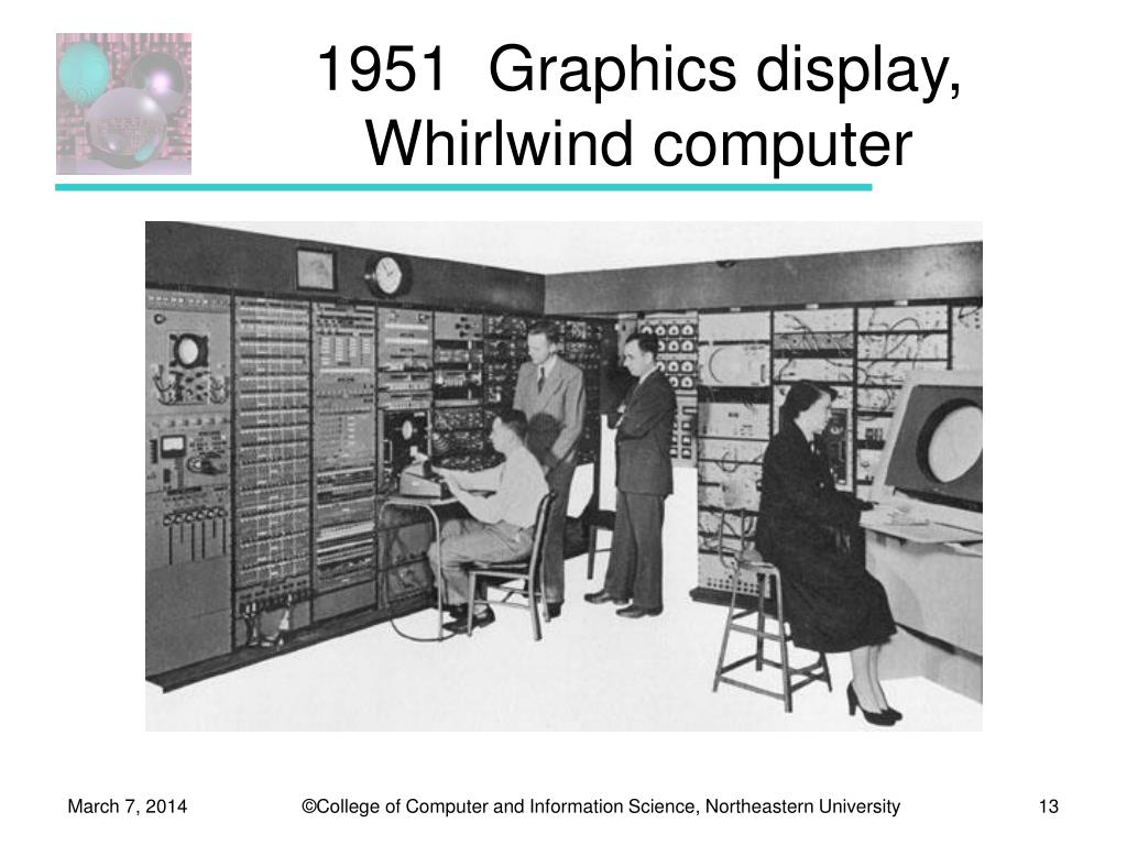 1951  Graphics display, Whirlwind computer