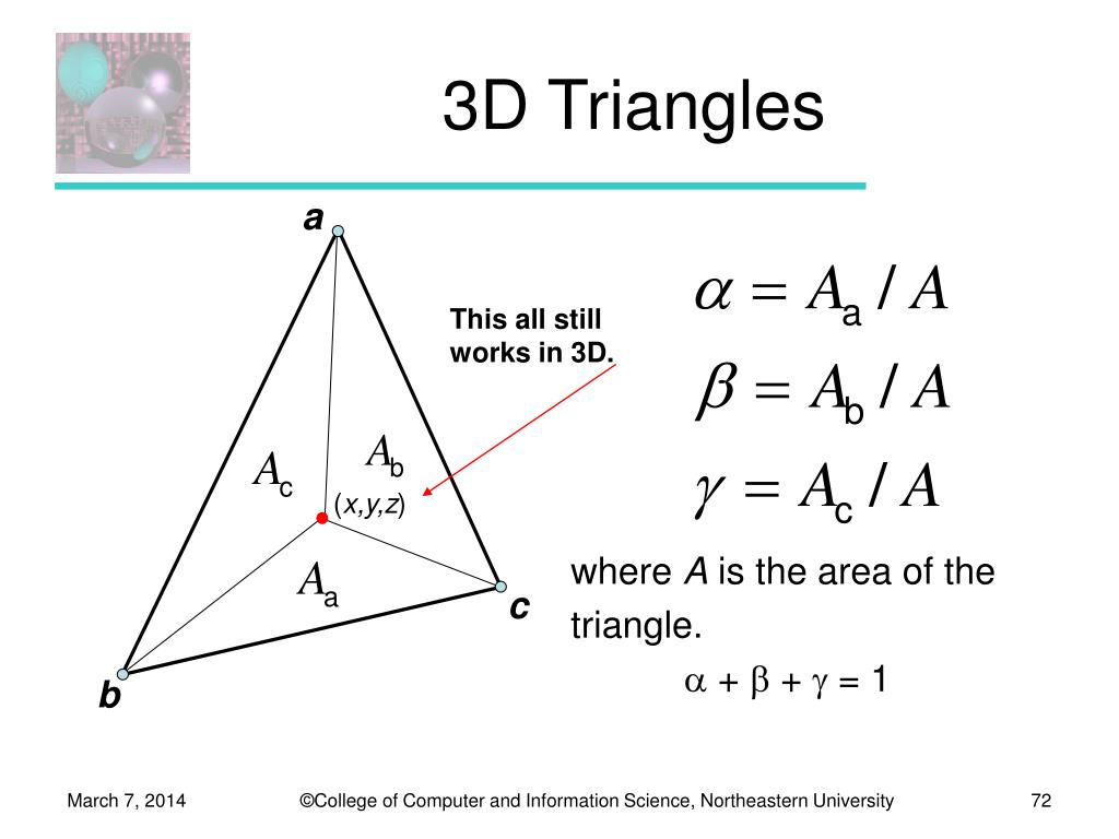 3D Triangles