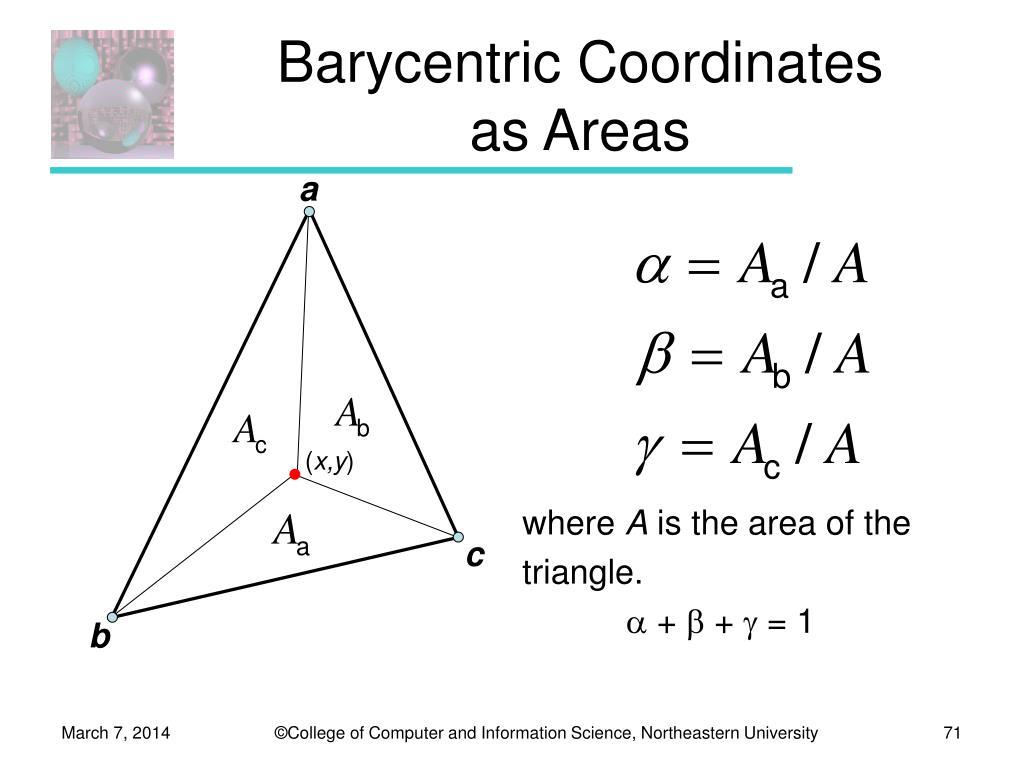 Barycentric Coordinates