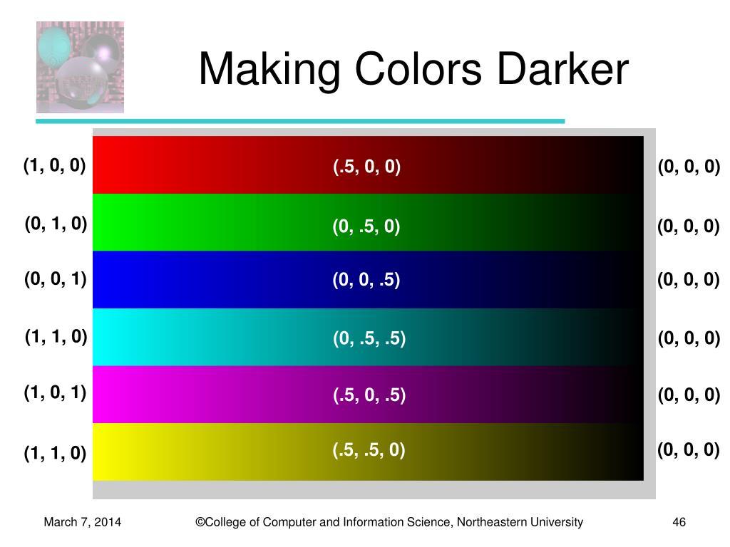 Making Colors Darker