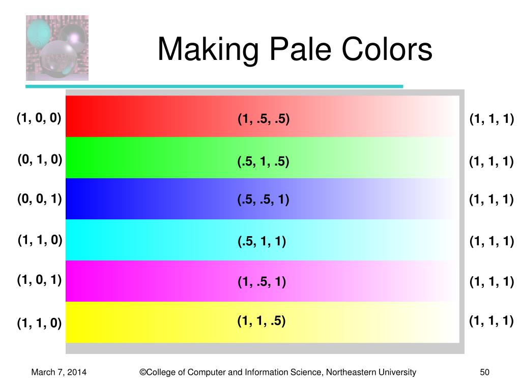 Making Pale Colors
