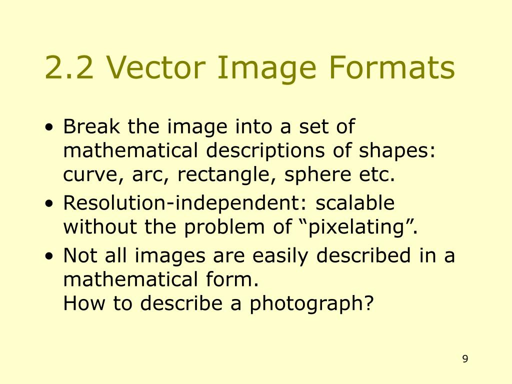 2.2 Vector Image Formats