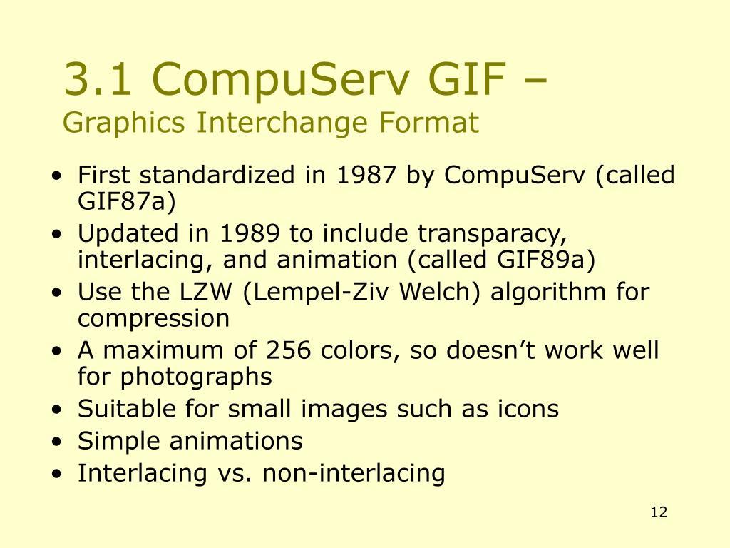 3.1 CompuServ GIF –