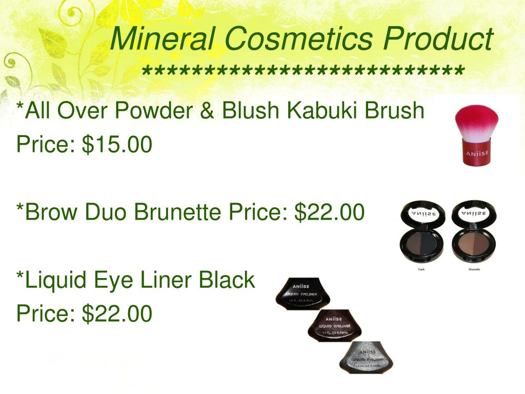 Mineral Cosmetics Product