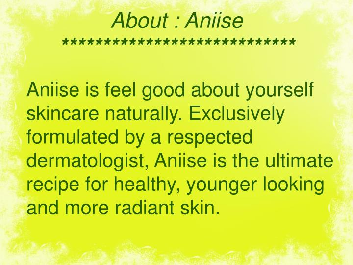 About : Aniise