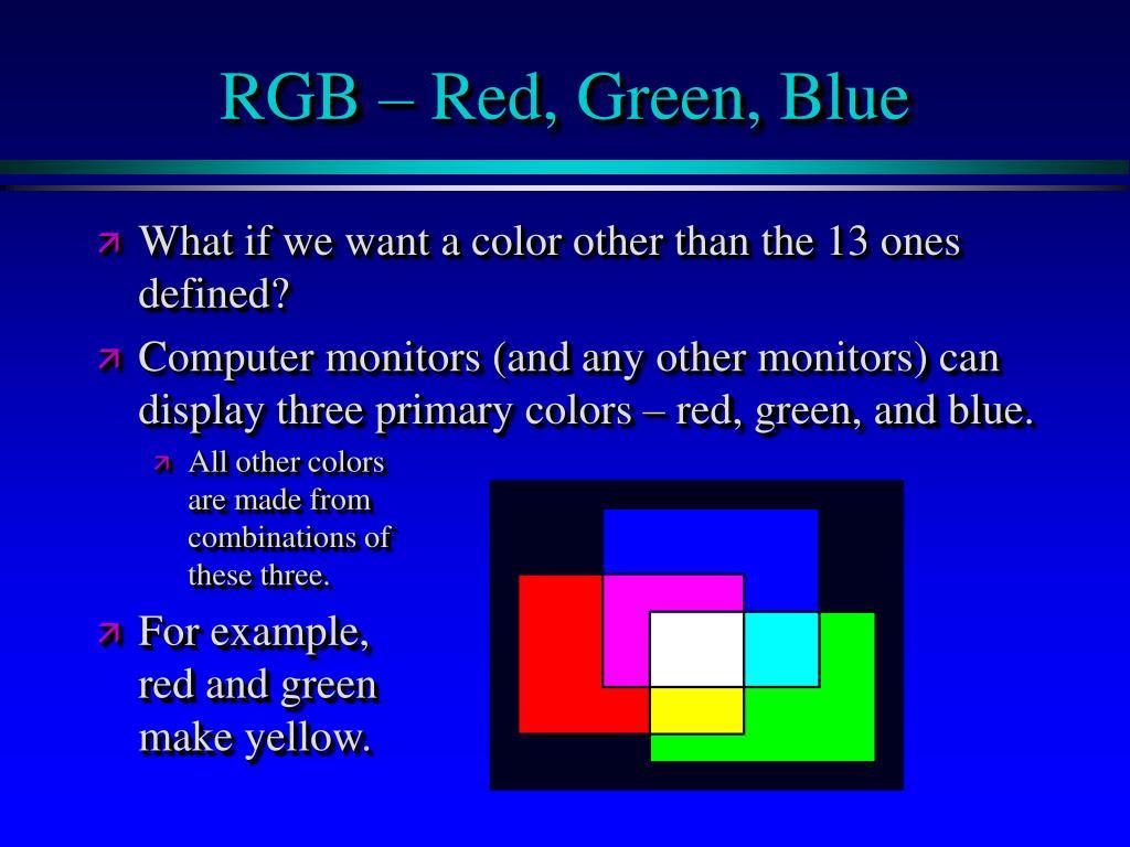 RGB – Red, Green, Blue
