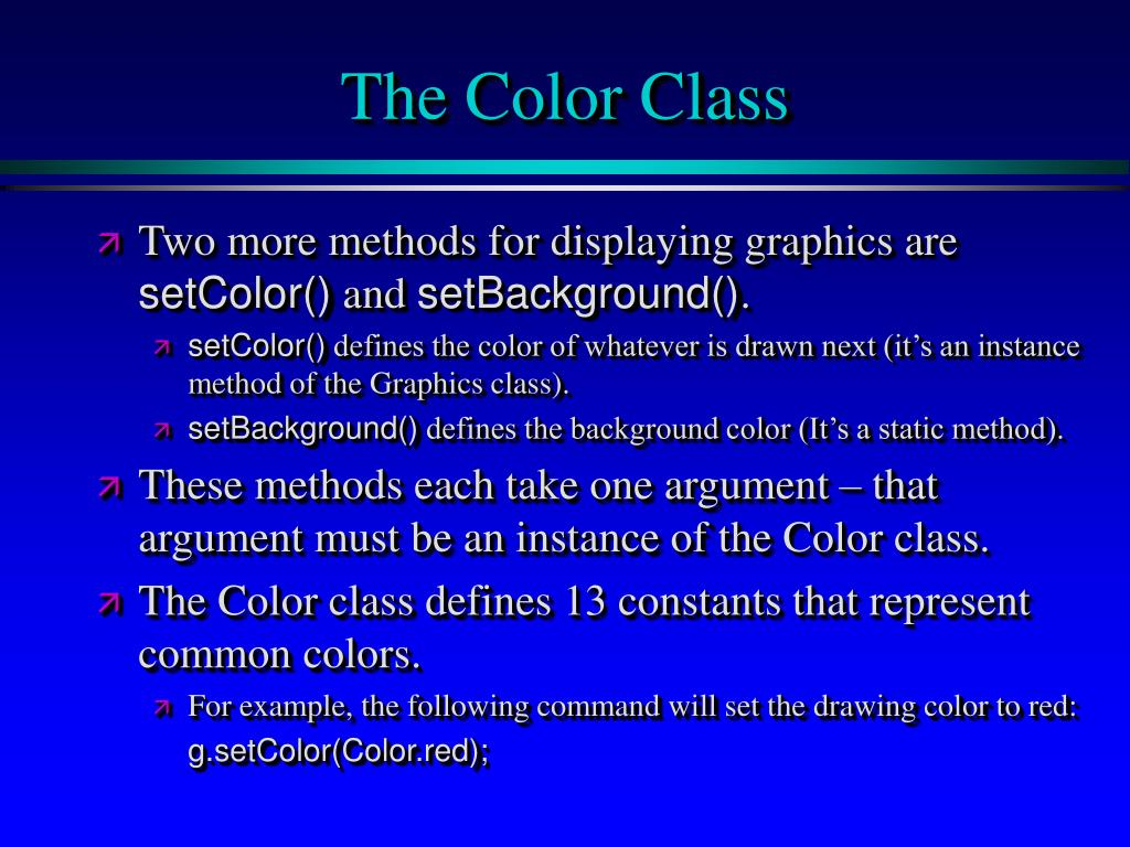 The Color Class