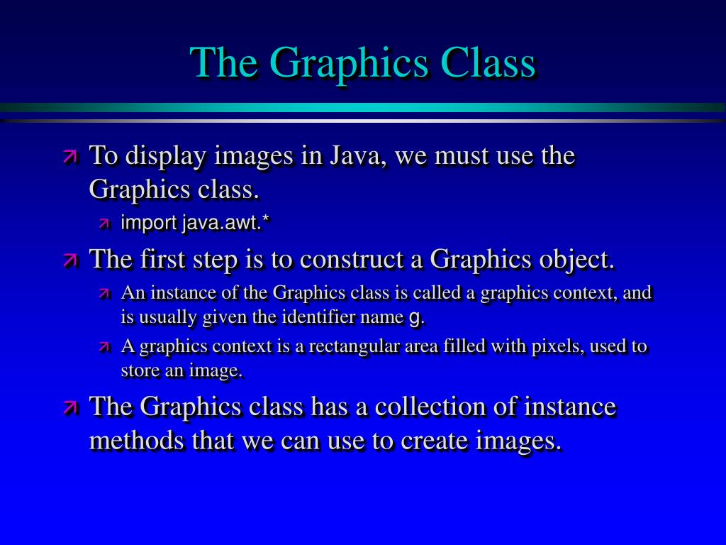 The Graphics Class