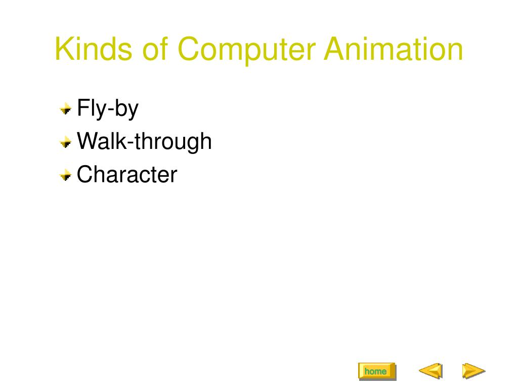 Kinds of Computer Animation