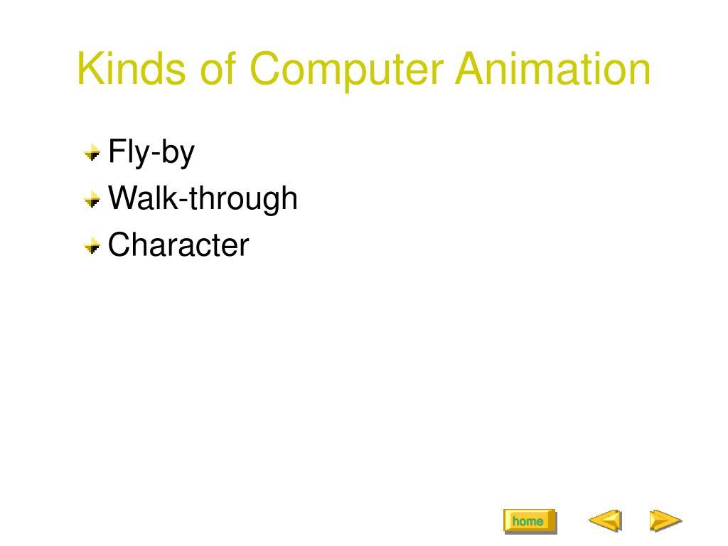 Kinds of Computer Animation