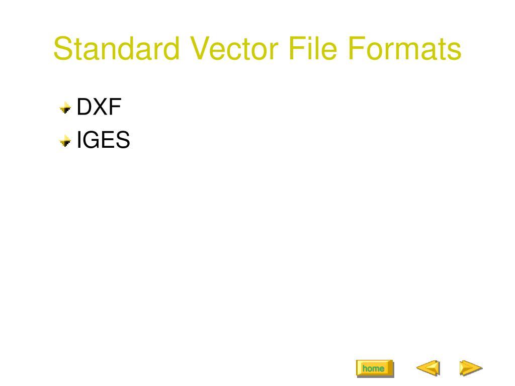 Standard Vector File Formats