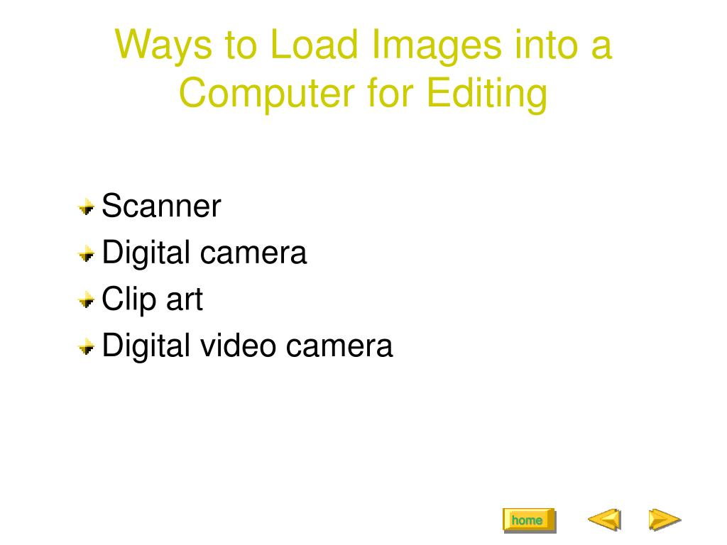 Ways to Load Images into a Computer for Editing