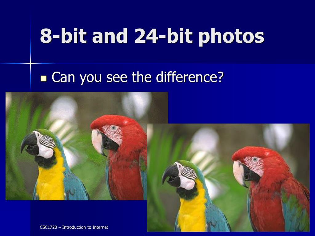 8-bit and 24-bit photos
