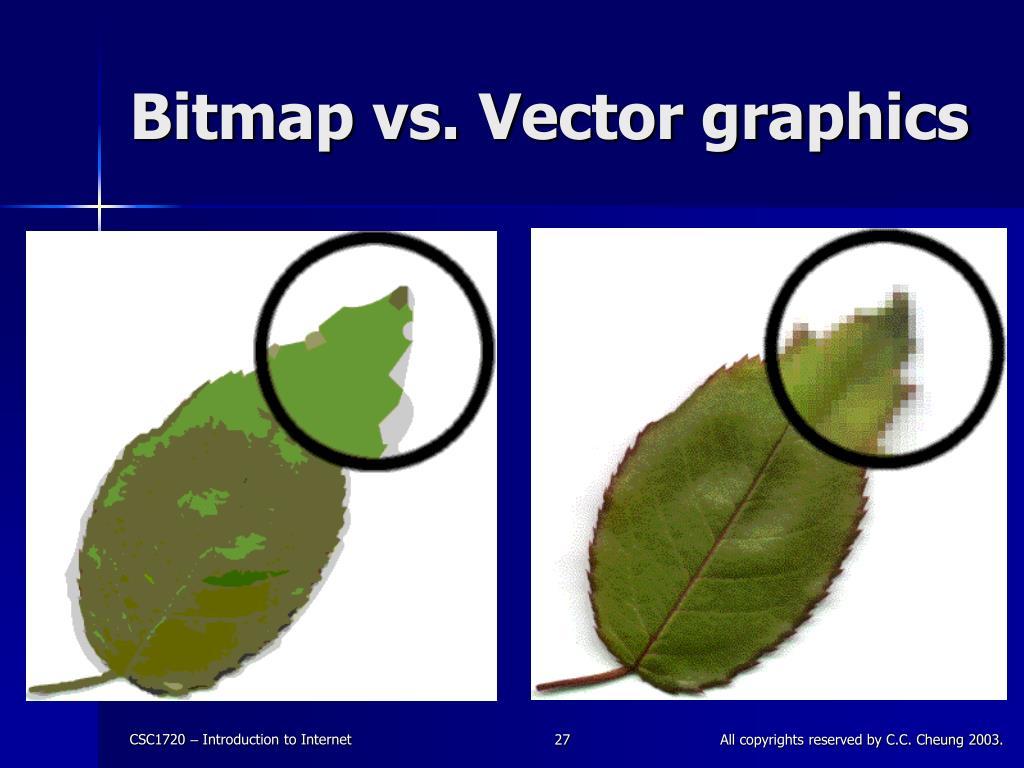 Bitmap vs. Vector graphics