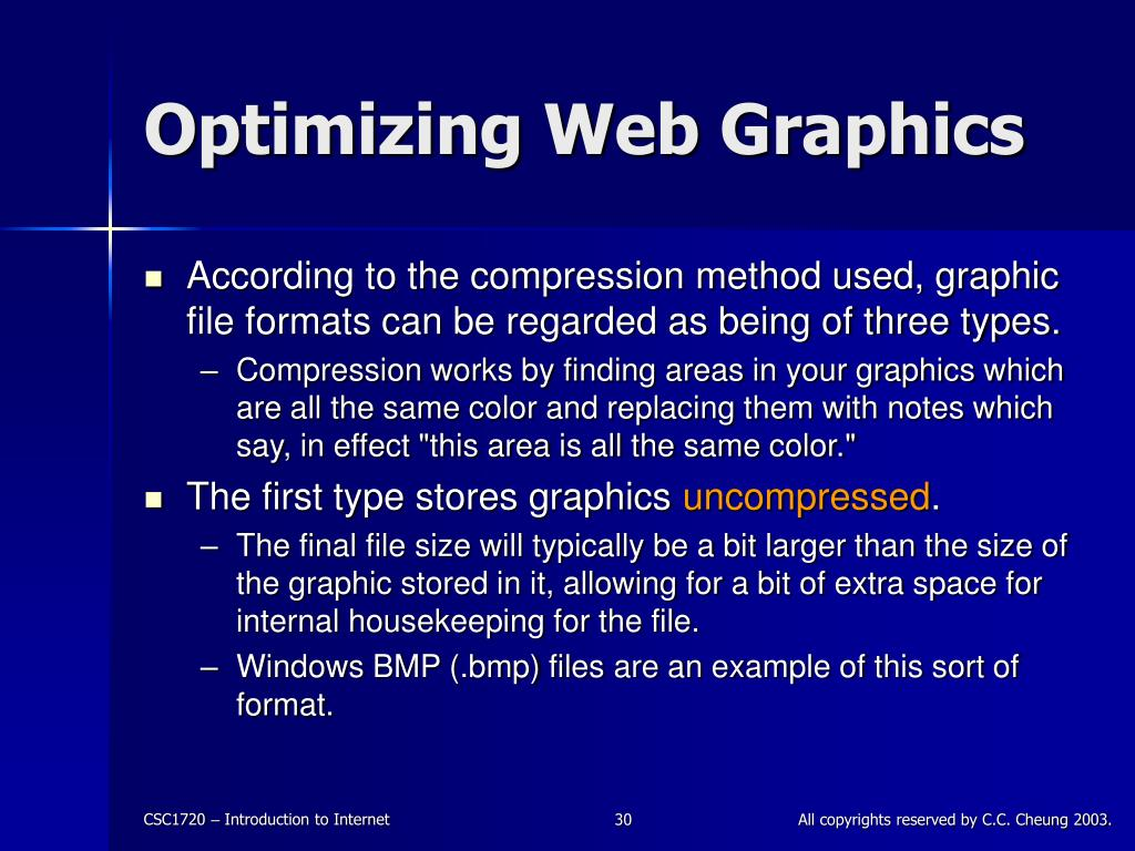 Optimizing Web Graphics