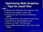 optimizing web graphics tips for small files