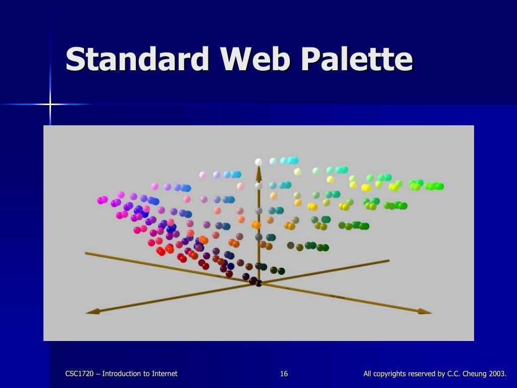 Standard Web Palette