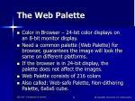 the web palette