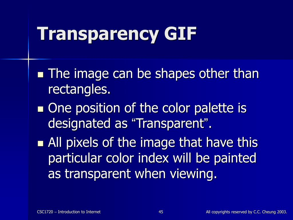 Transparency GIF