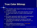 true color bitmap