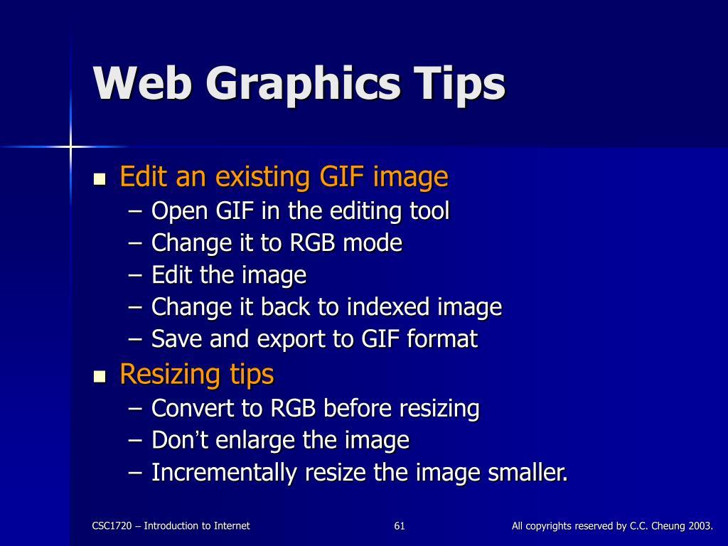 Web Graphics Tips
