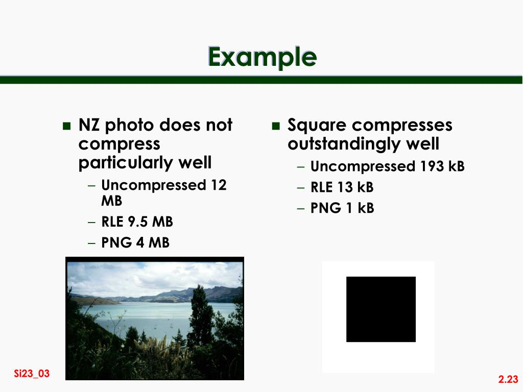 NZ photo does not compress particularly well
