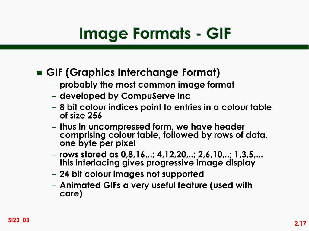 Image Formats - GIF
