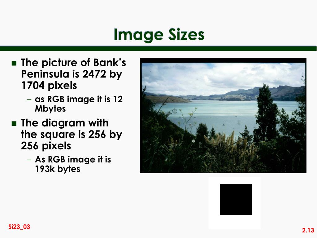 The picture of Bank's Peninsula is 2472 by 1704 pixels
