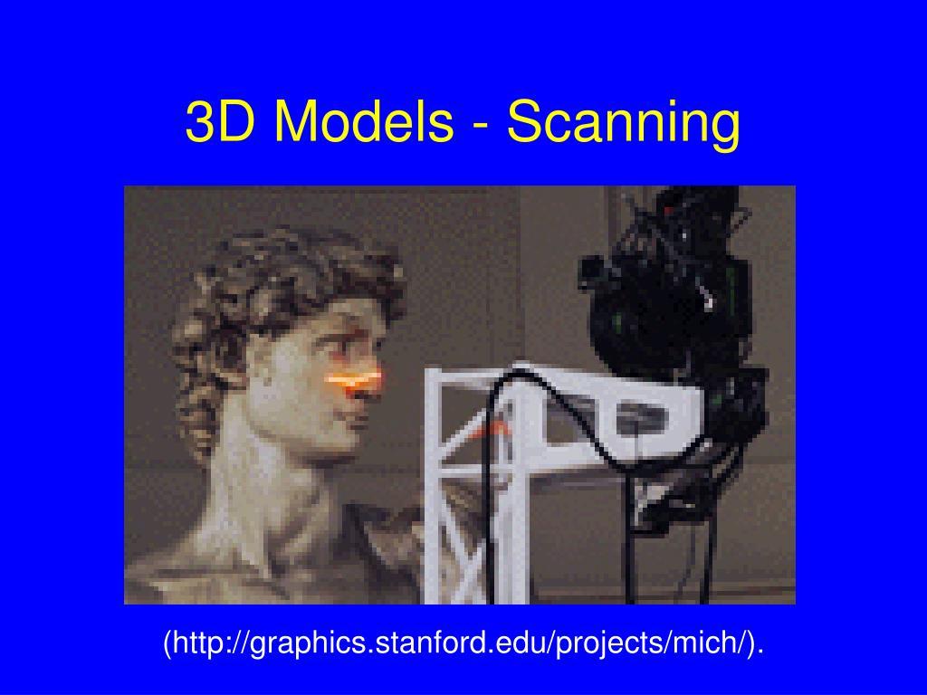 3D Models - Scanning