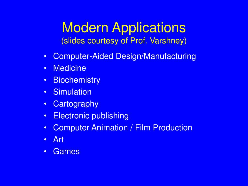 Modern Applications