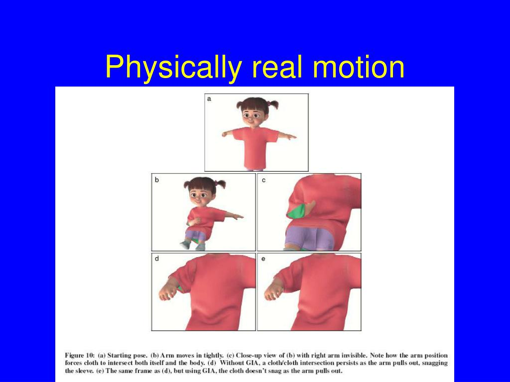 Physically real motion