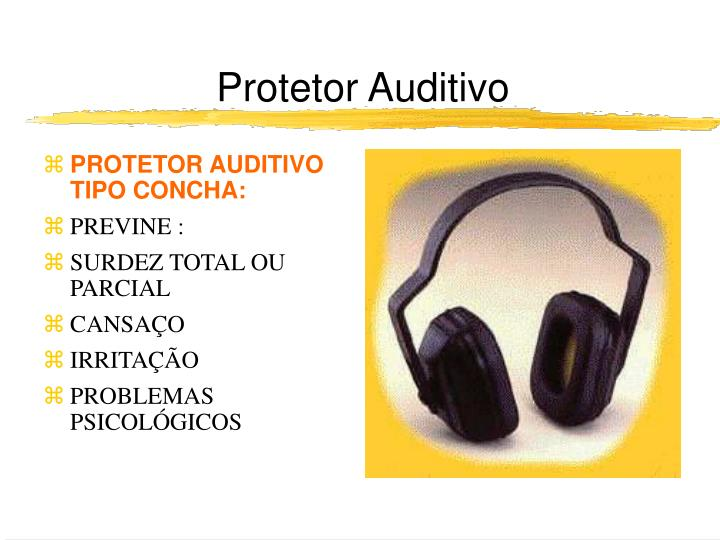 PROTETOR AUDITIVO TIPO CONCHA: