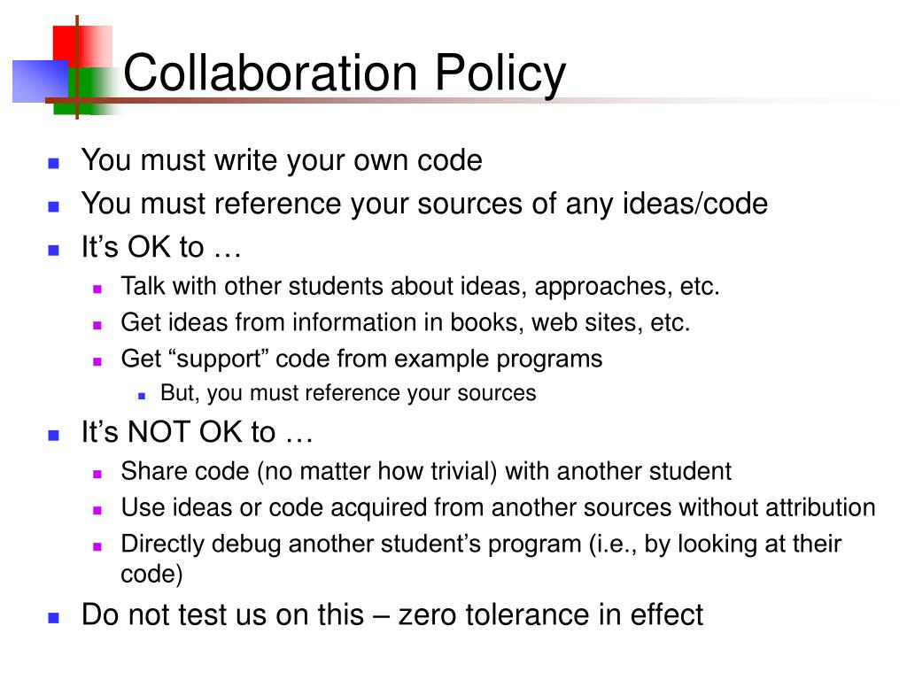 Collaboration Policy