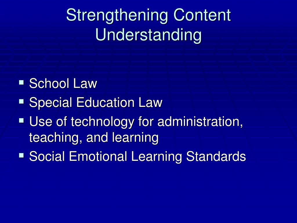 Strengthening Content Understanding