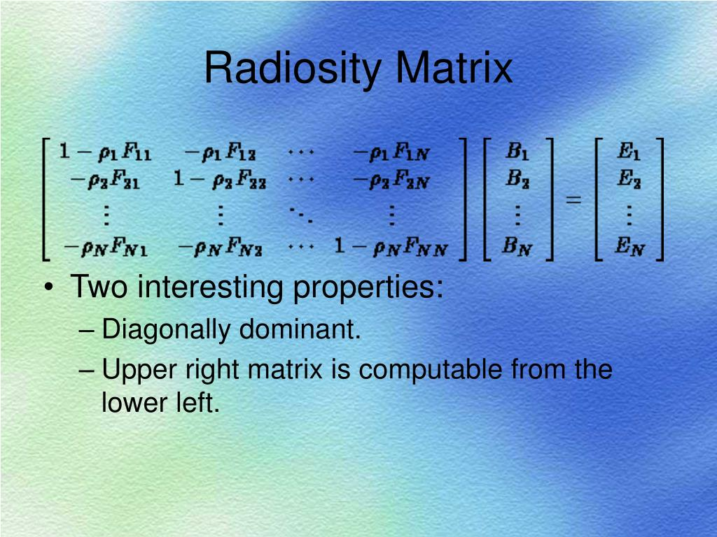 Radiosity Matrix