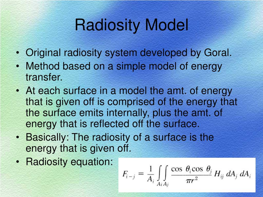 Radiosity Model