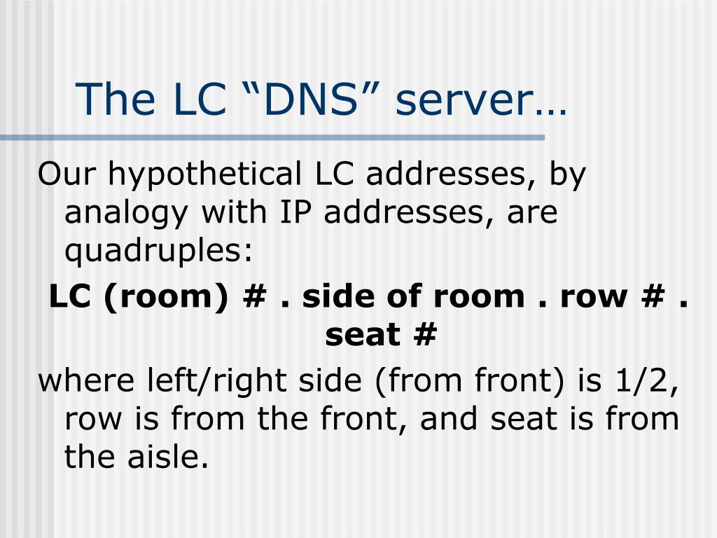 "The LC ""DNS"" server…"