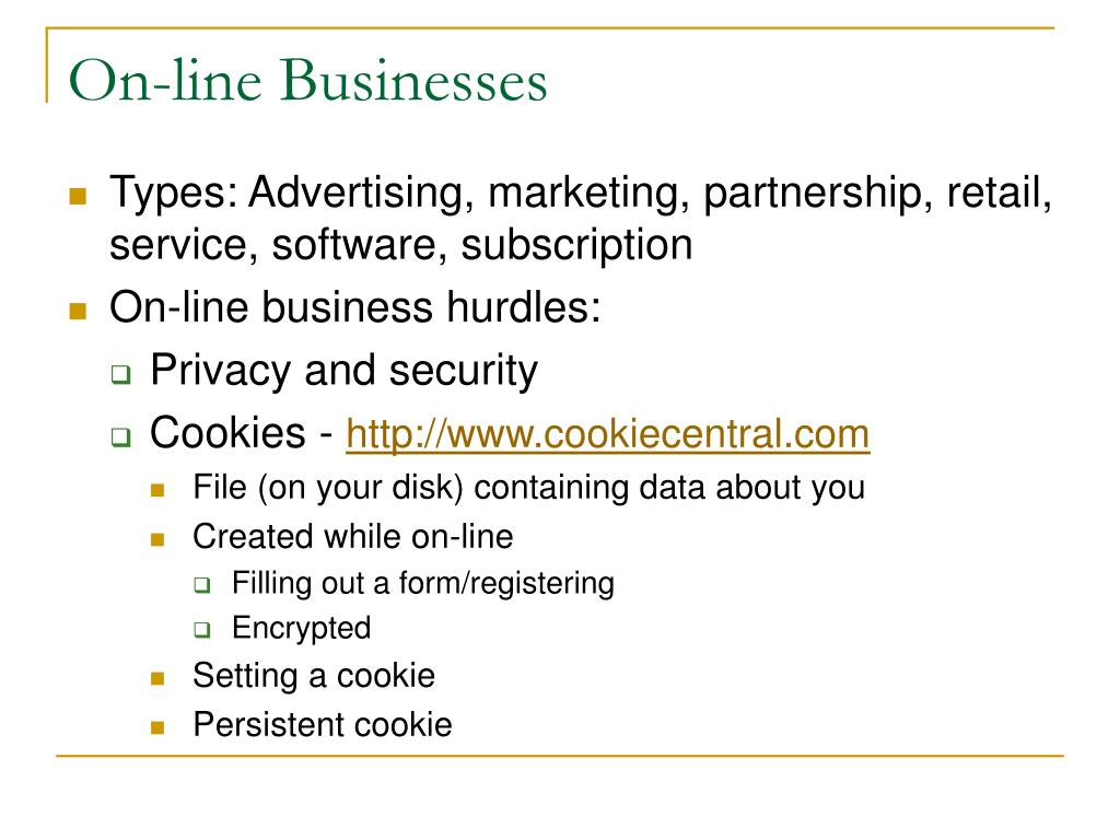 On-line Businesses