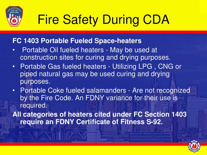 Fire safety during cda l.jpg