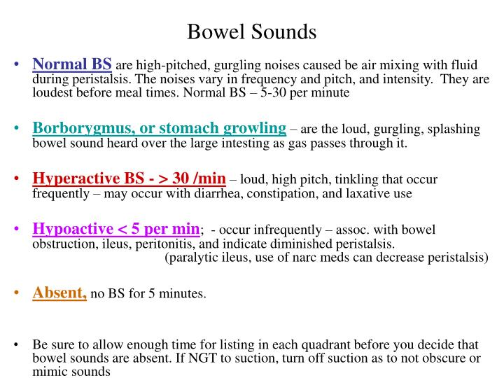 Bowel Sounds
