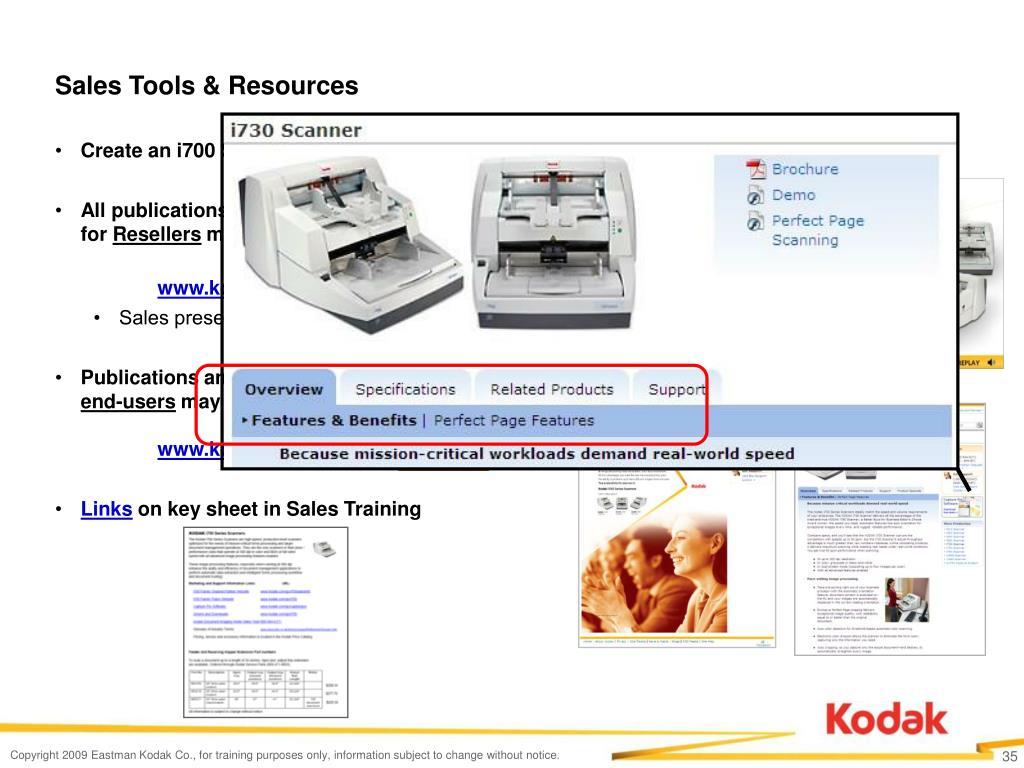 Sales Tools & Resources