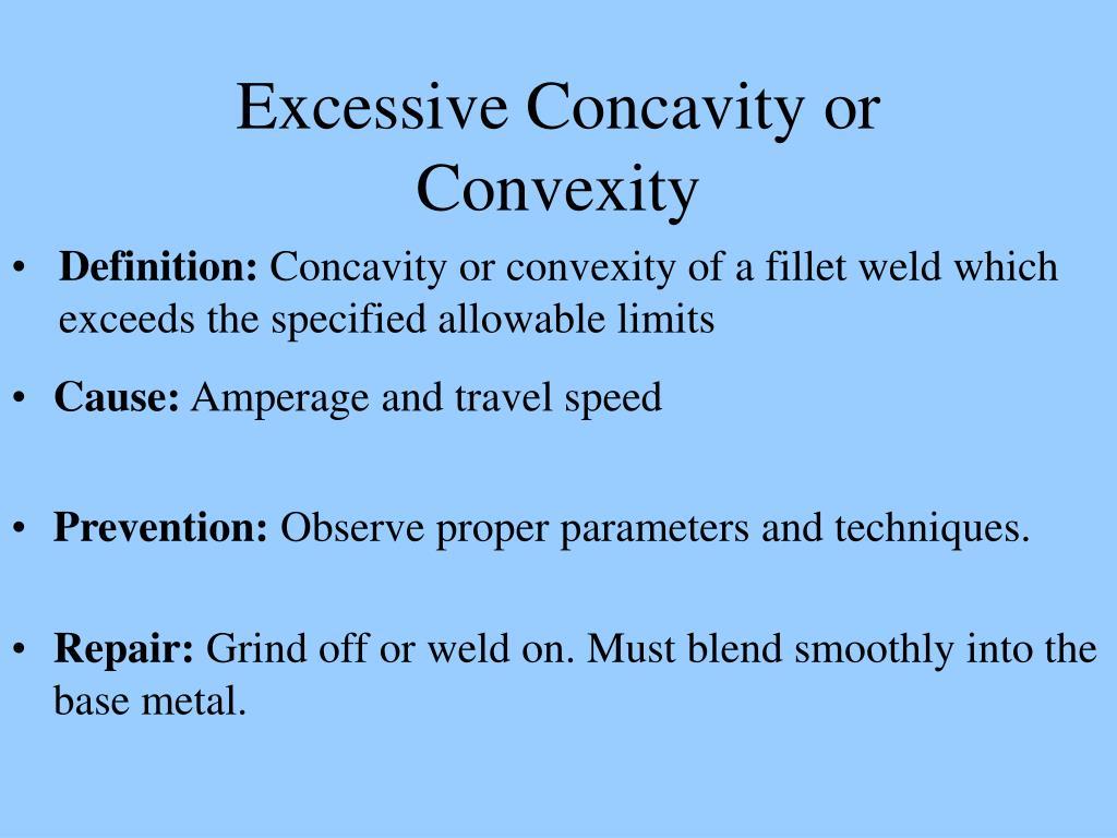 Excessive Concavity or Convexity