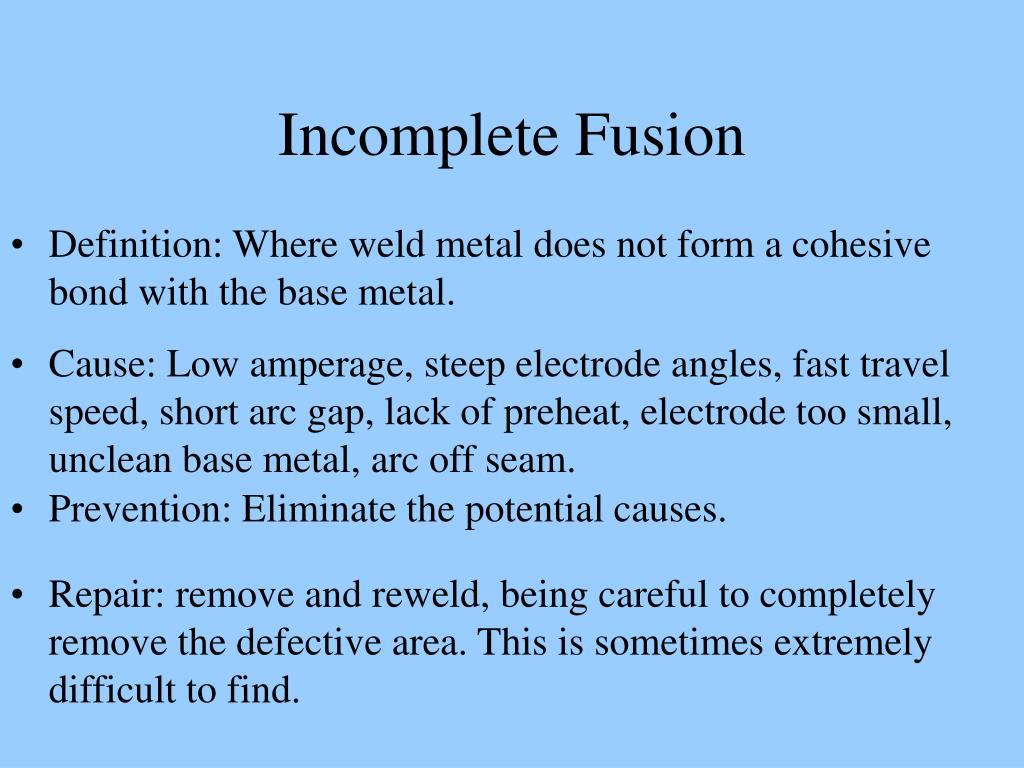 Incomplete Fusion