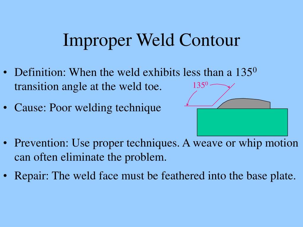 Improper Weld Contour