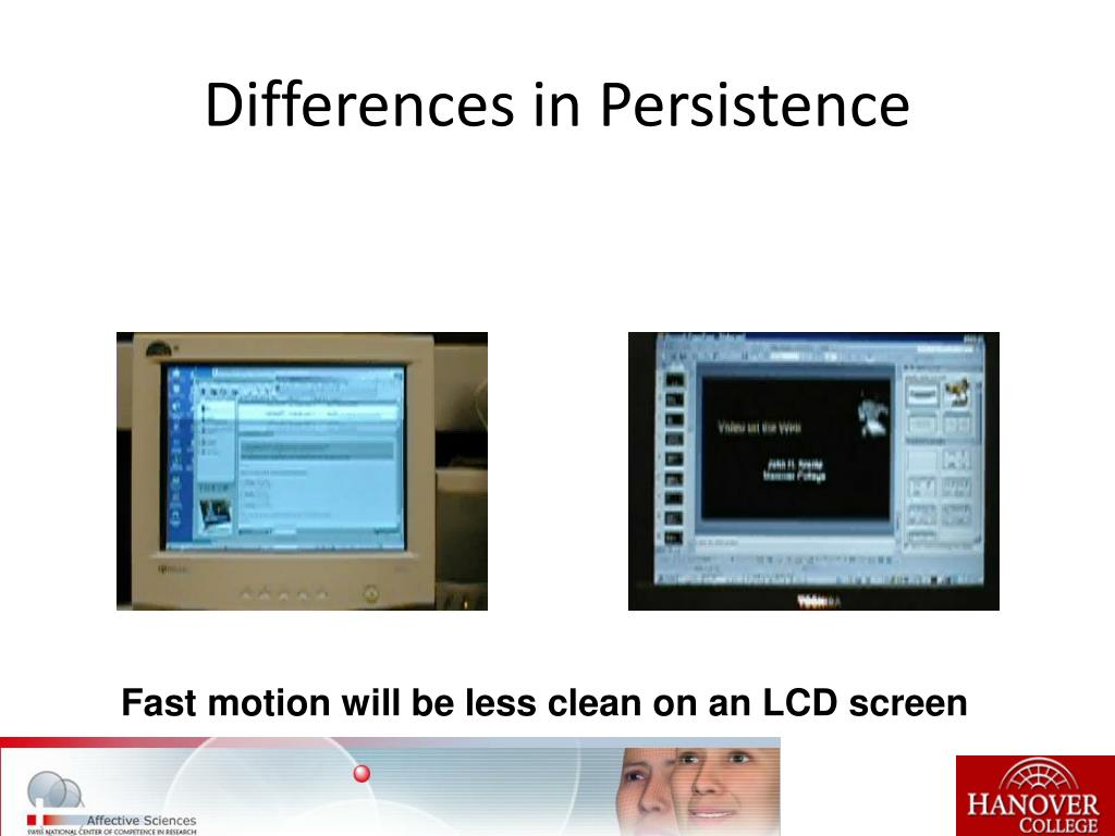 Differences in Persistence
