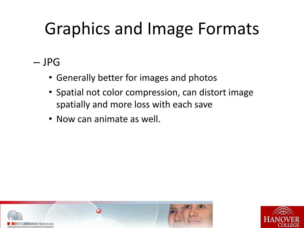 Graphics and Image Formats