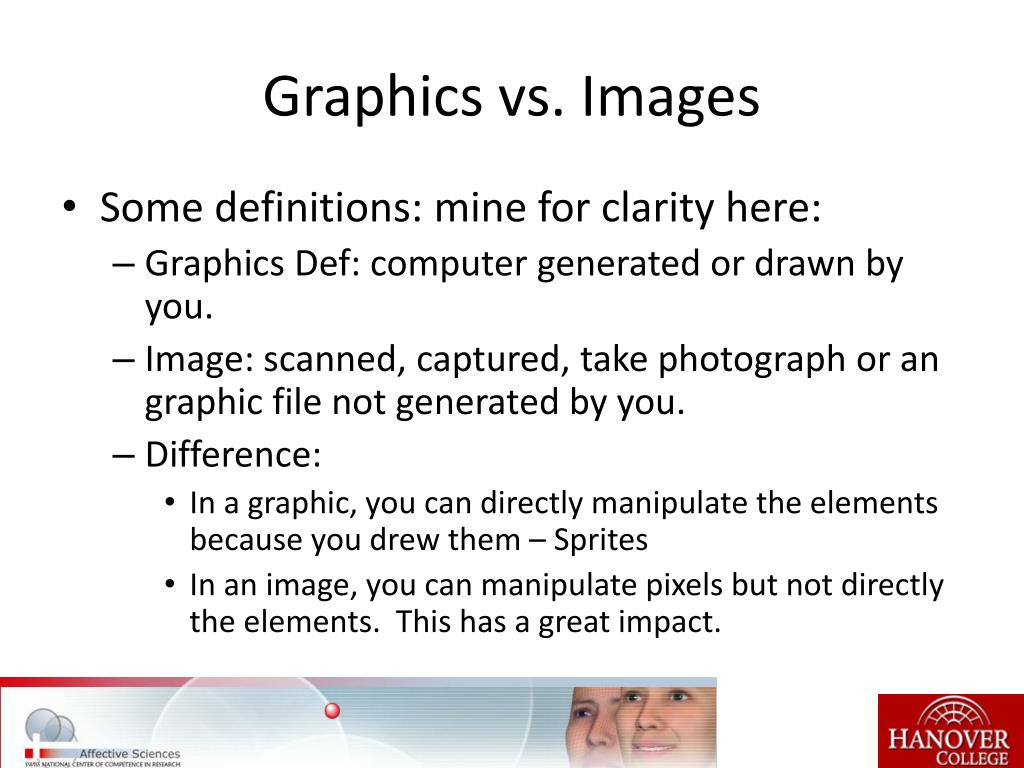 Graphics vs. Images