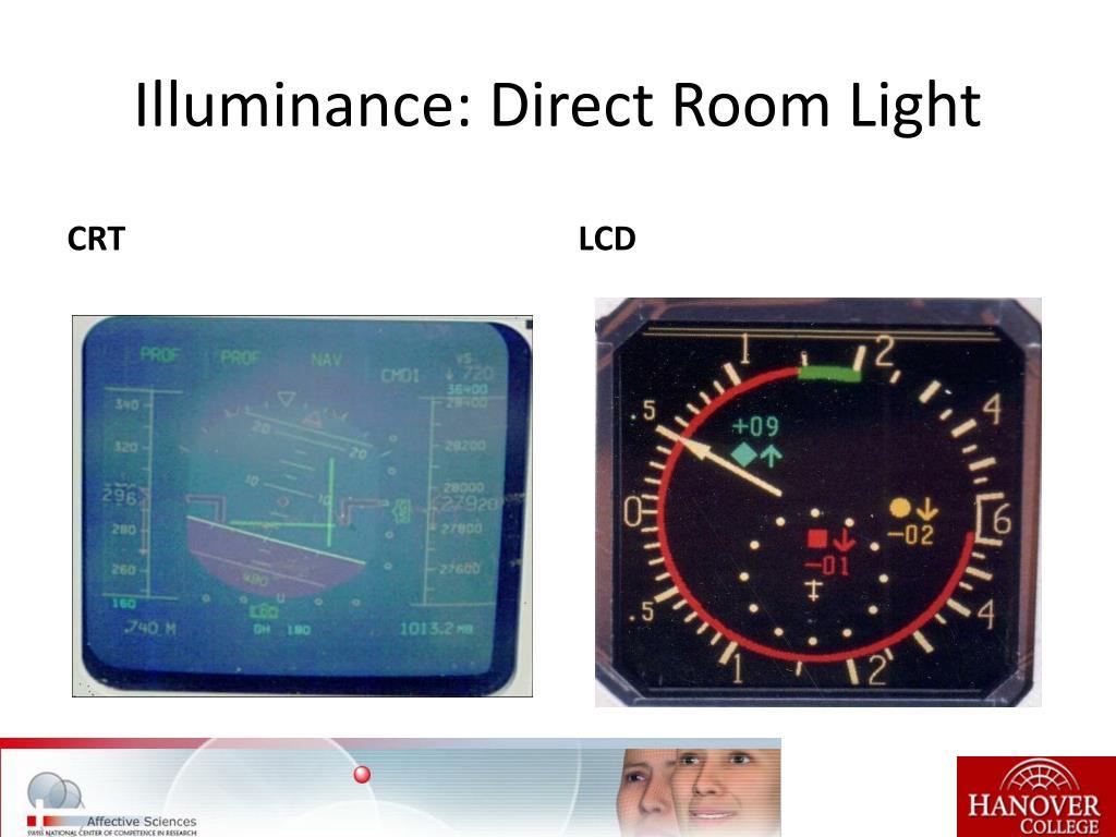 Illuminance: Direct Room Light